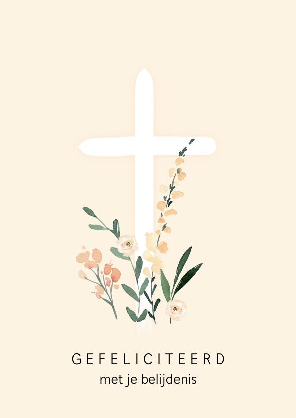 Felicitatiekaarten - Christelijke felicitatie kruis