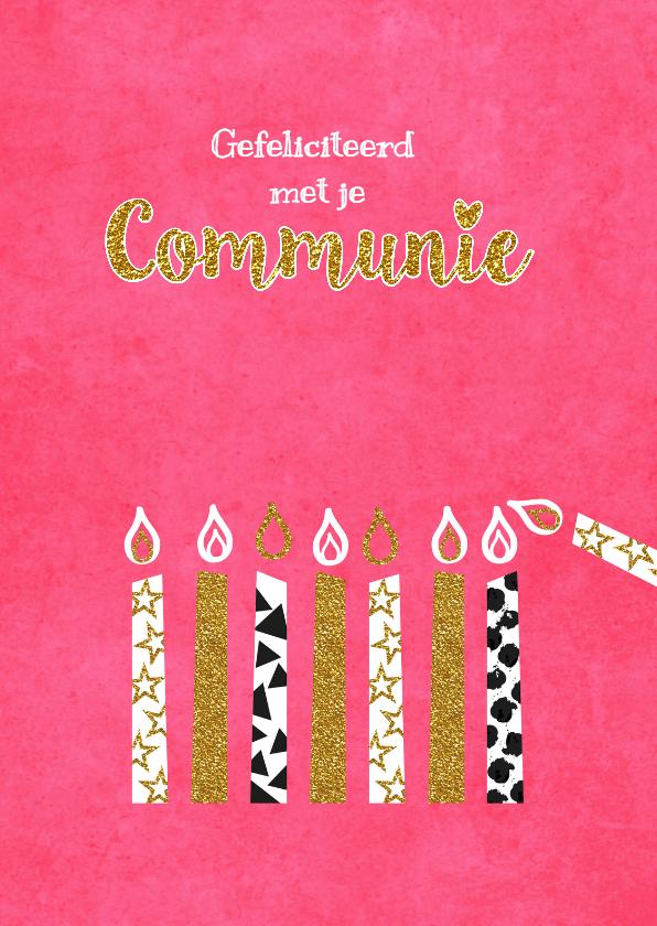 Felicitatiekaarten - communie felicitatie kaarsjes