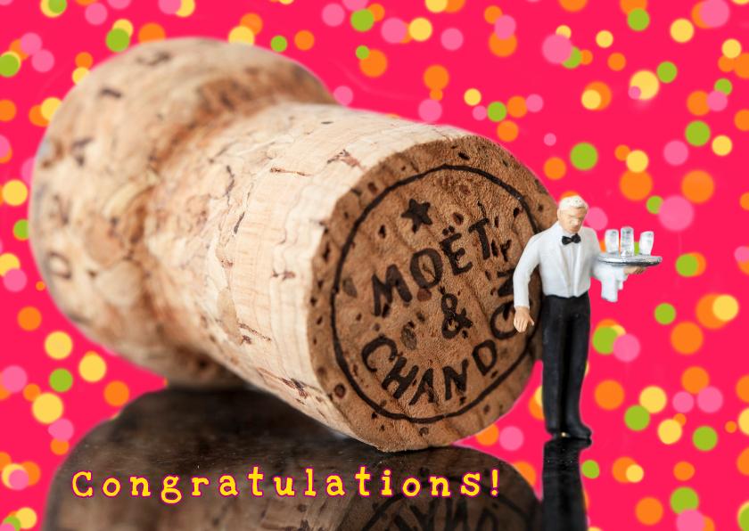 Felicitatiekaarten - dat vraagt om champagne