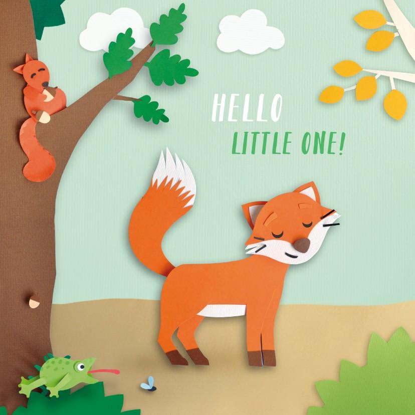 Felicitatiekaarten - Dieren in het bos felicitatiekaart