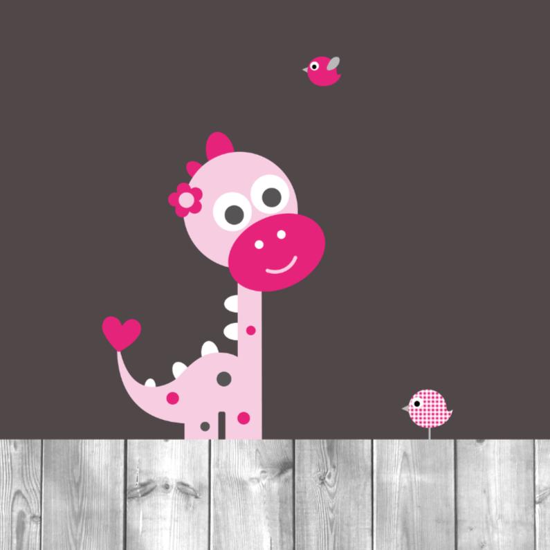 Felicitatiekaarten - Dinosaurus meisje