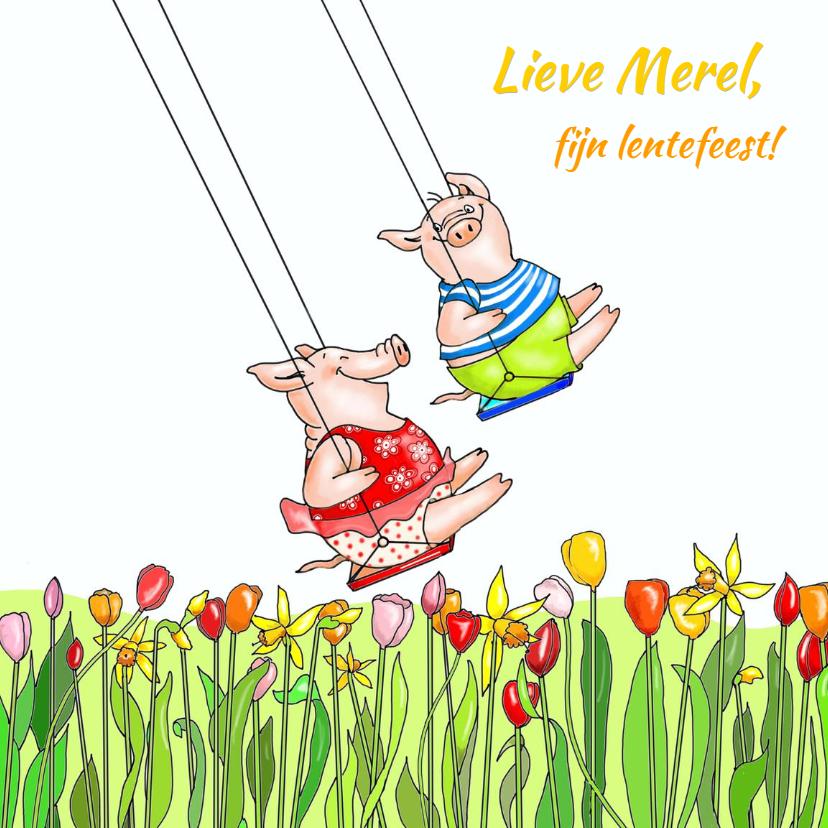 Felicitatiekaarten - Eindelijk weer lentefeest