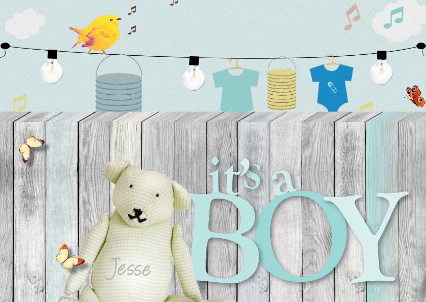 Felicitatiekaarten - Feliciatie geboorte - Its A Boy letters
