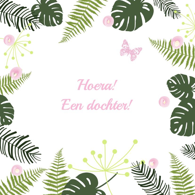 Felicitatiekaarten - Felicitatie - Botanisch meisje