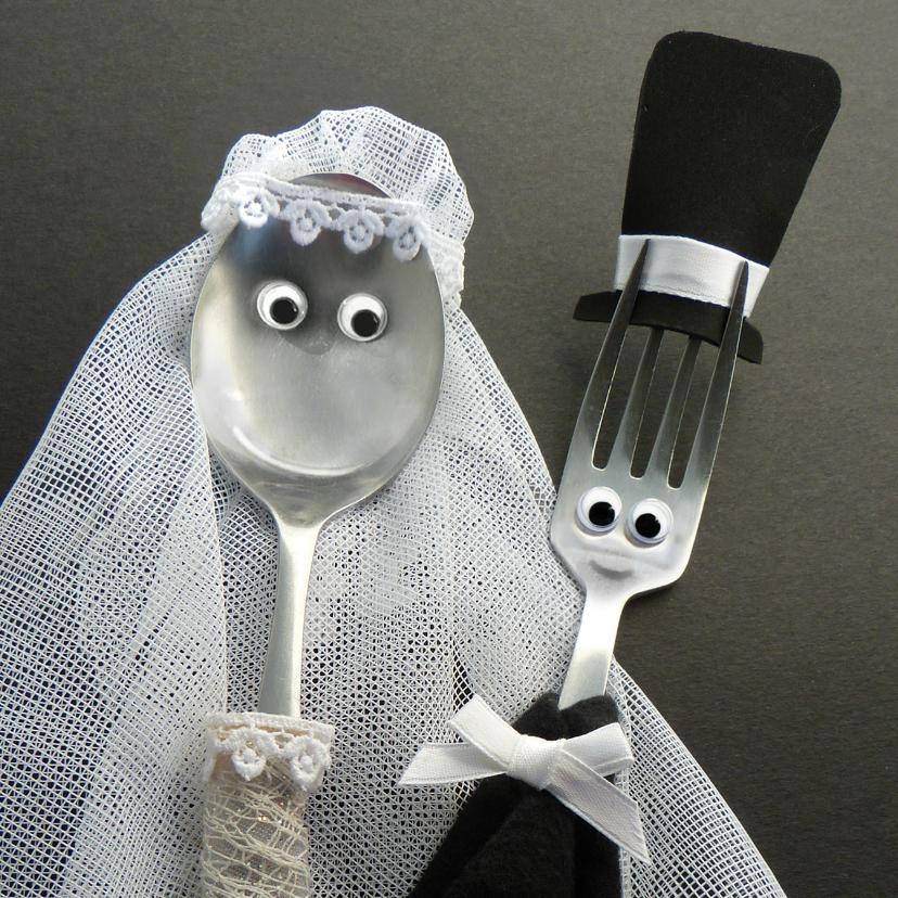 Felicitatiekaarten - Felicitatie Bruidspaar Bestek - bruiloft