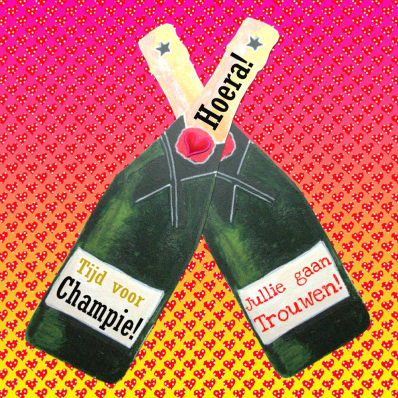 Felicitatiekaarten - Felicitatie Champagne  PA