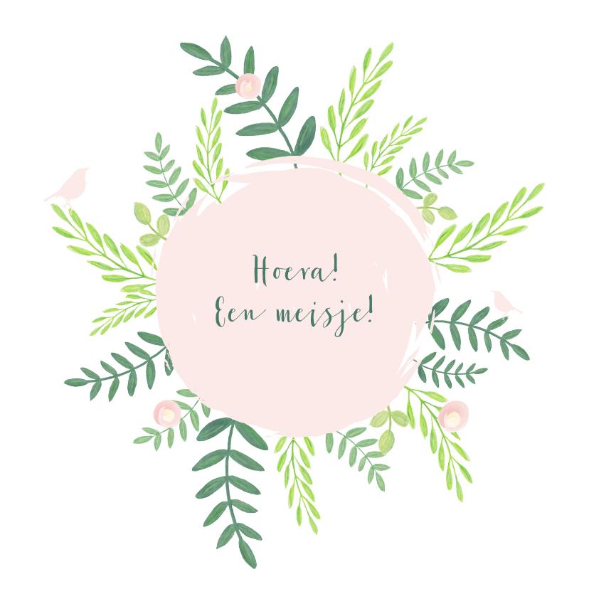 Felicitatiekaarten - Felicitatie - Cirkel met botanische illustraties