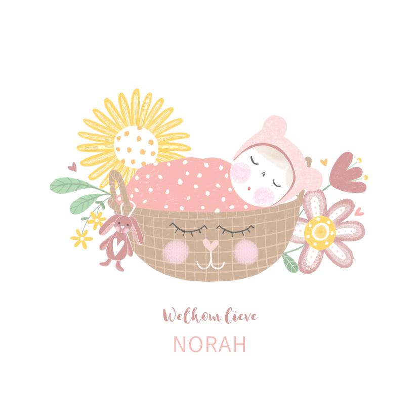 Felicitatiekaarten - Felicitatie dochter baby roze