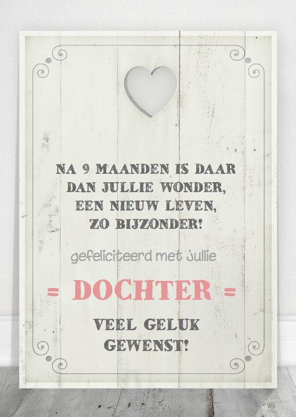 gefeliciteerd met je dochter gedicht Felicitatie Dochter Tekstbord | Kaartje2go gefeliciteerd met je dochter gedicht