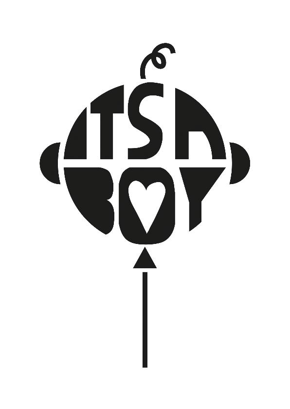 Felicitatiekaarten - Felicitatie geboorte It's a boy ballon
