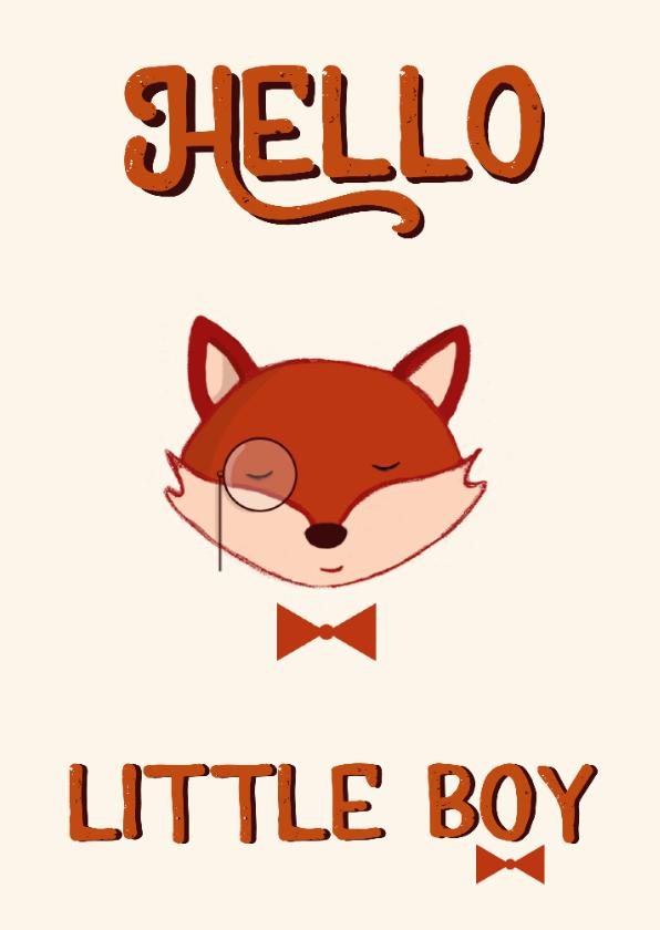 Felicitatiekaarten - Felicitatie geboorte kaartje jongen vos