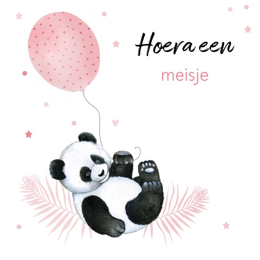 Felicitatiekaarten - Felicitatie geboorte meisje pandabeertje