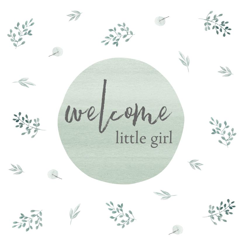 Felicitatiekaarten - Felicitatie geboorte mint takjes