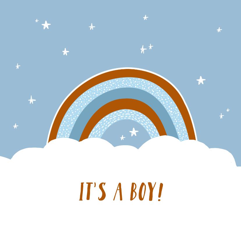 Felicitatiekaarten - Felicitatie geboorte regenboog jongen