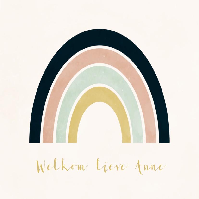 Felicitatiekaarten - Felicitatie geboorte regenboog