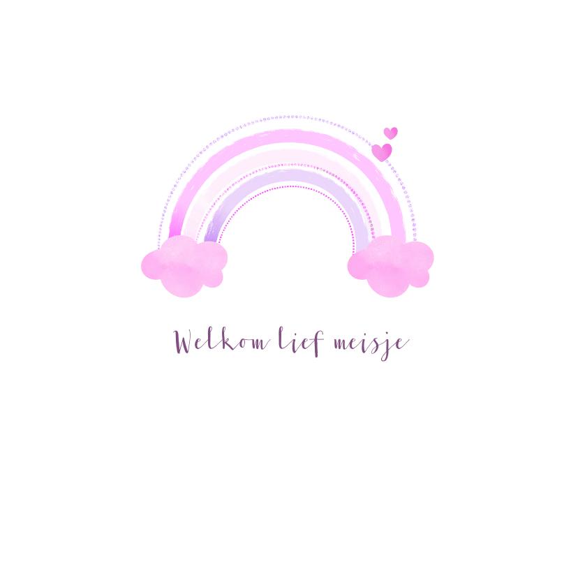 Felicitatiekaarten - Felicitatie geboorte regenboogje