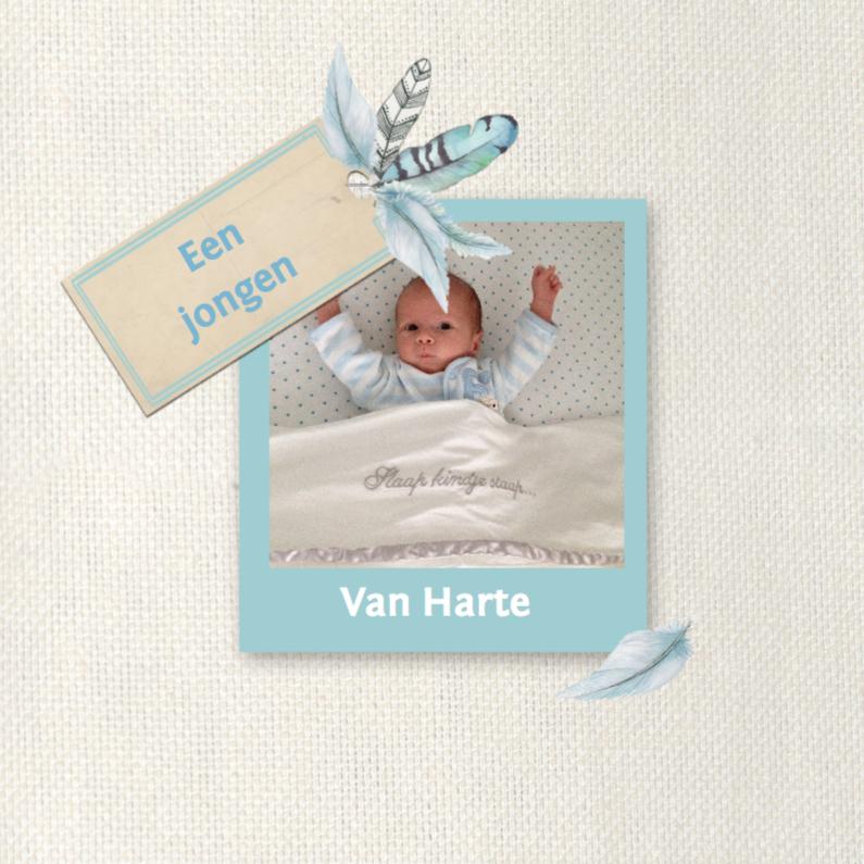 Felicitatiekaarten - felicitatie geboorte veren zoon