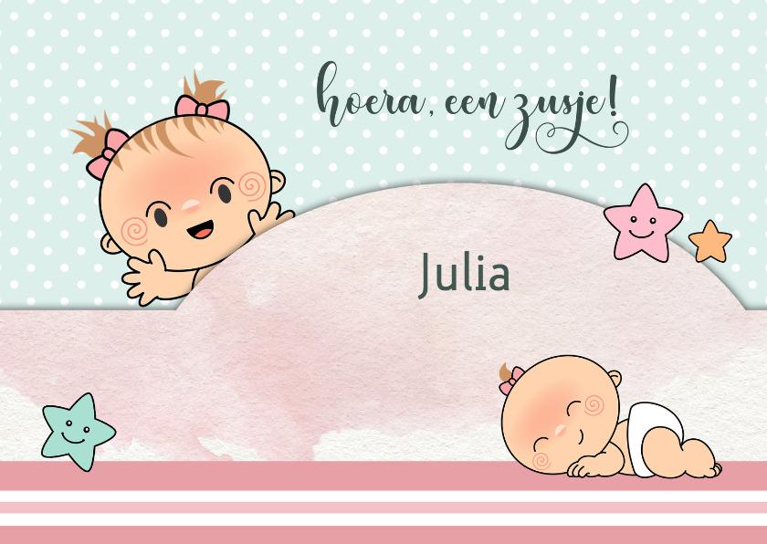 Felicitatiekaarten - Felicitatie geboorte voor zus