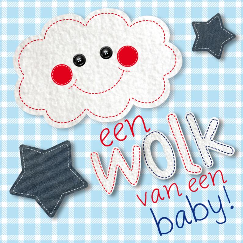 Felicitatiekaarten - Felicitatie geboorte wolk boy