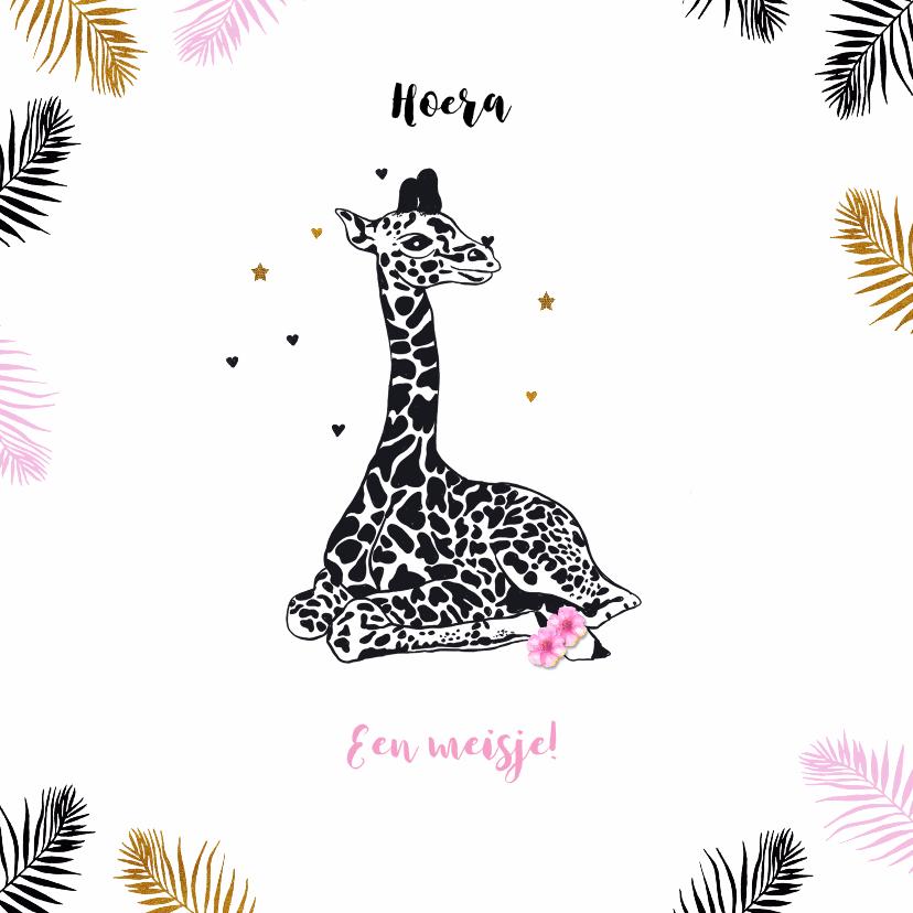 Felicitatiekaarten - Felicitatie giraffe meisje
