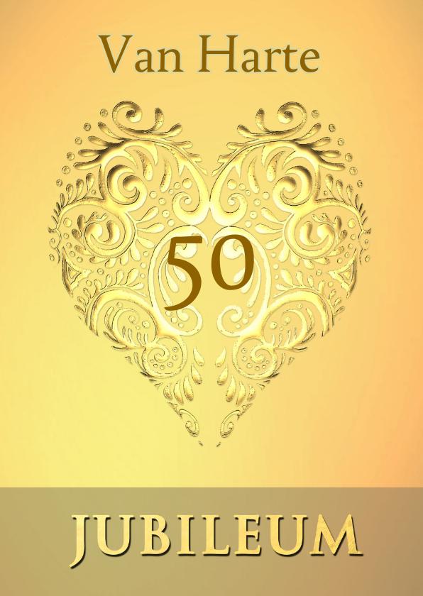 Felicitatiekaarten - felicitatie gouden jubileum