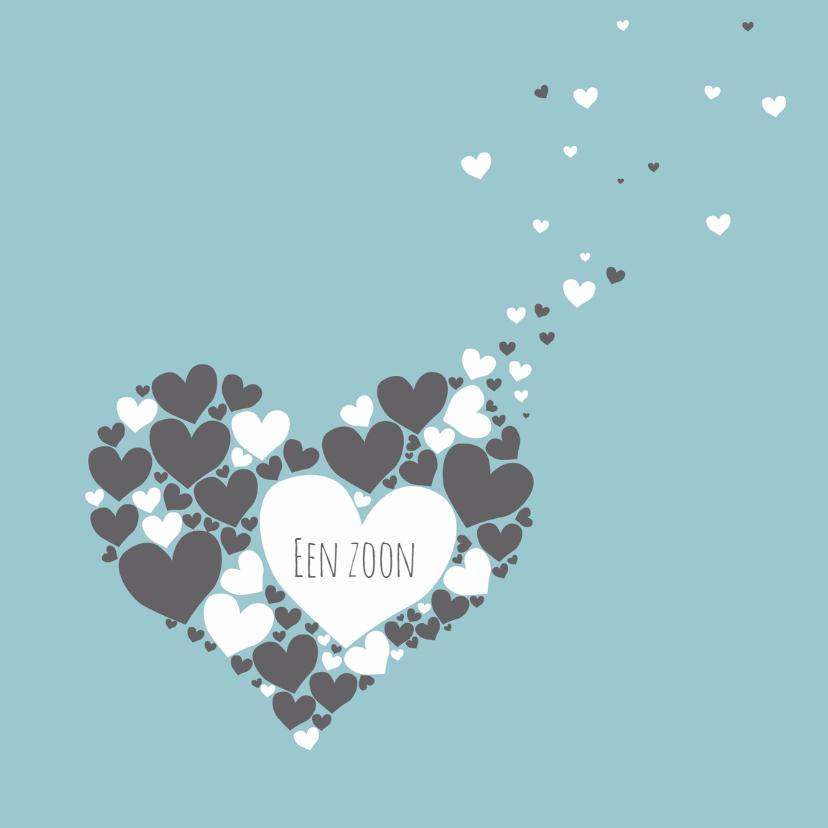Felicitatiekaarten - Felicitatie - Harten hart jongen