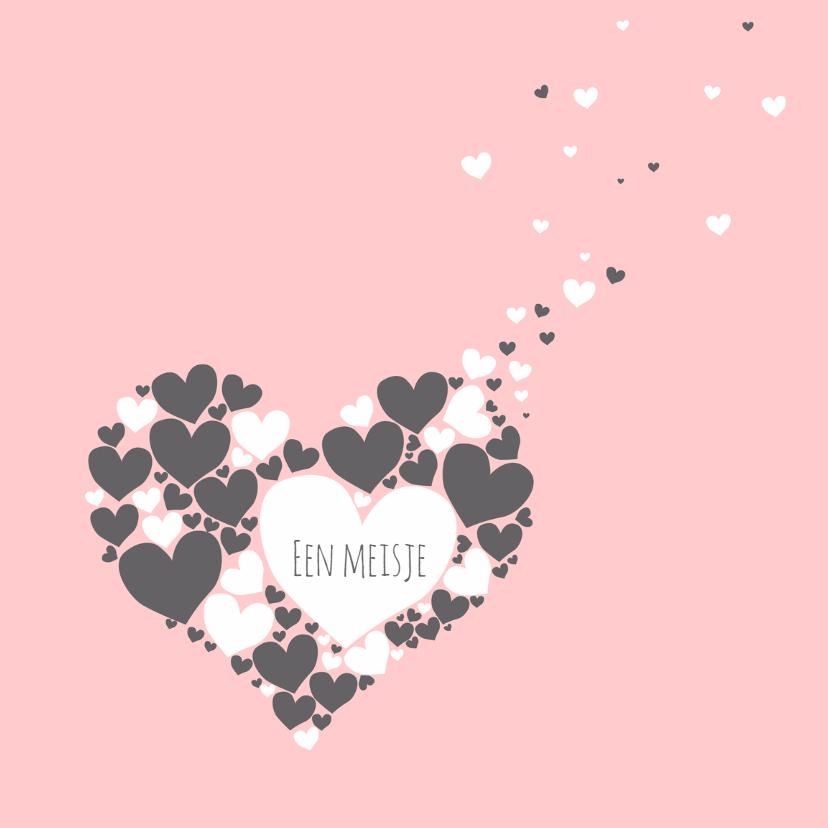 Felicitatiekaarten - Felicitatie - Harten hart meisje