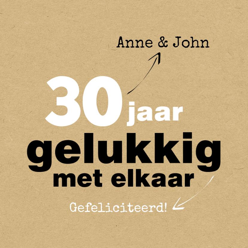 Felicitatiekaarten - Felicitatie jubileum 30 jaar gelukkig met elkaar