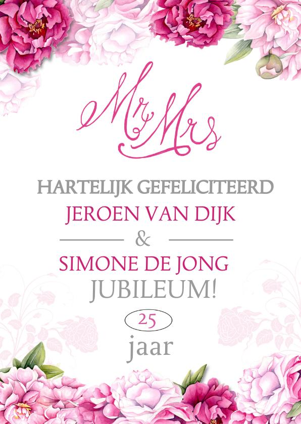 Felicitatiekaarten - Felicitatie jubileum huwelijk