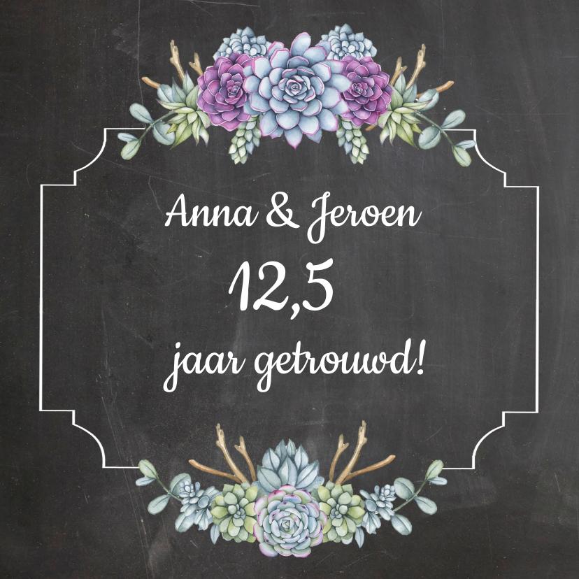Felicitatiekaarten - Felicitatie jubileum vetplantjes