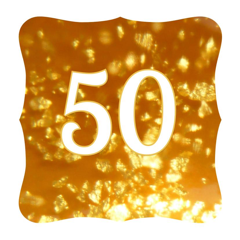 Felicitatiekaarten - Felicitatie kaart jubileum gouden 50