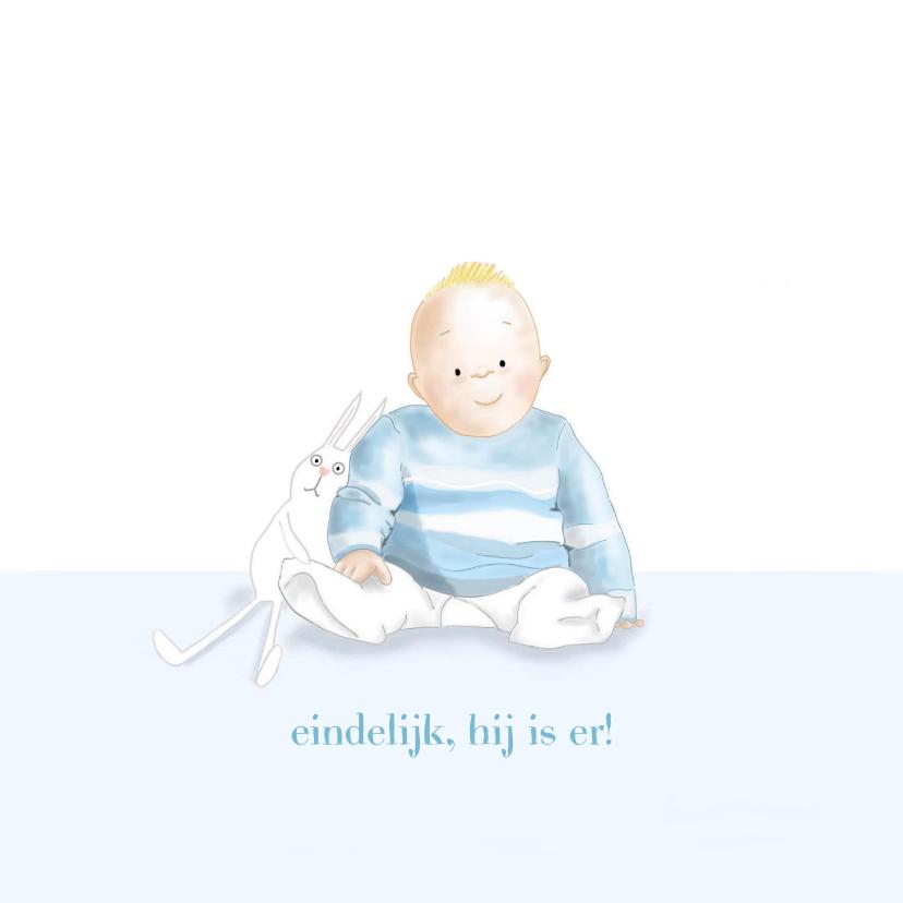 Felicitatiekaarten - Felicitatie - Kleine jongen met konijntje