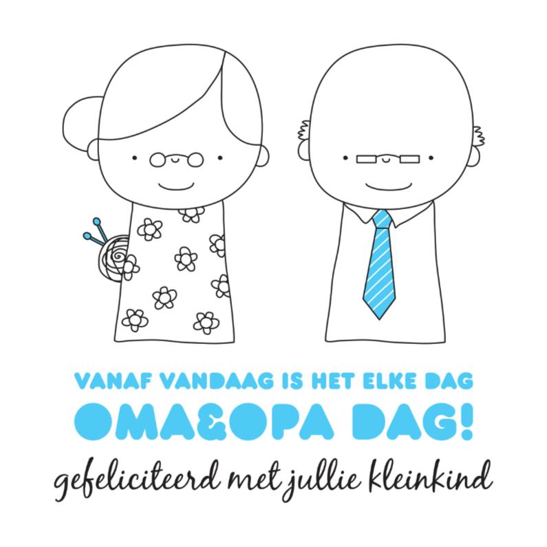 Felicitatiekaarten - Felicitatie Kleinkind Opadag