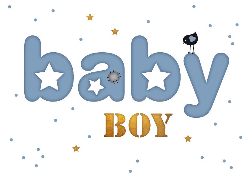 Felicitatiekaarten - Felicitatie letter kaart baby boy