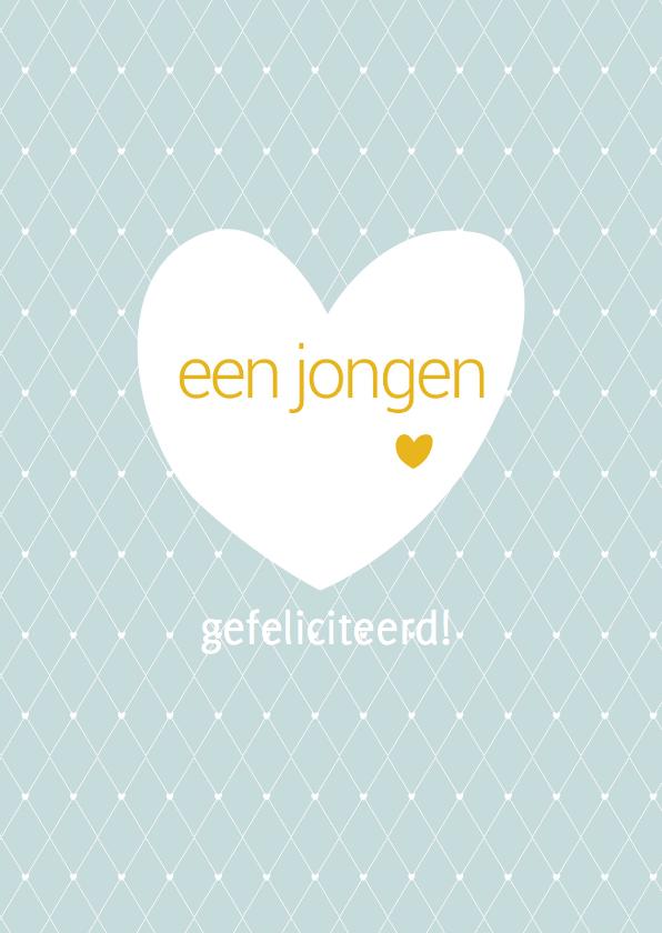 Felicitatiekaarten - Felicitatie Lieve Jongen Geboren