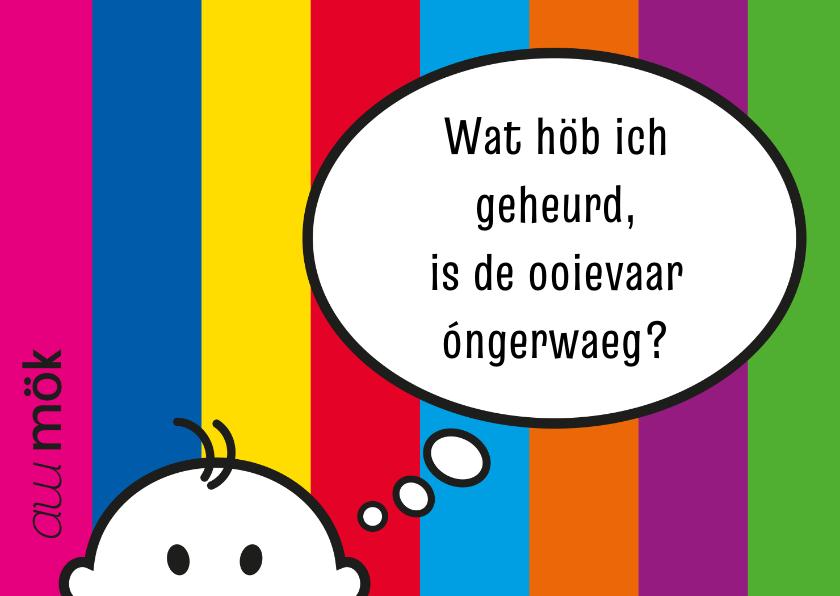 Felicitatiekaarten - Felicitatie Limburgs ooievaar