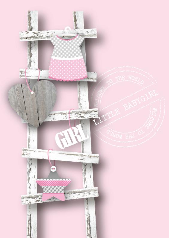Felicitatiekaarten - Felicitatie Meisje Ladder