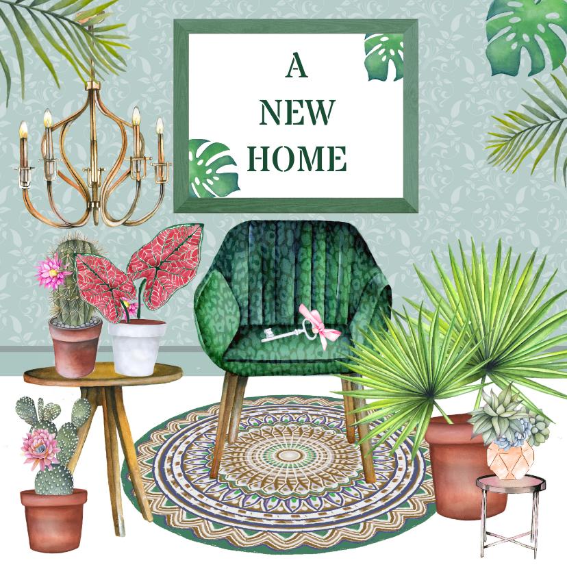 Felicitatiekaarten - Felicitatie new home hippe inrichting
