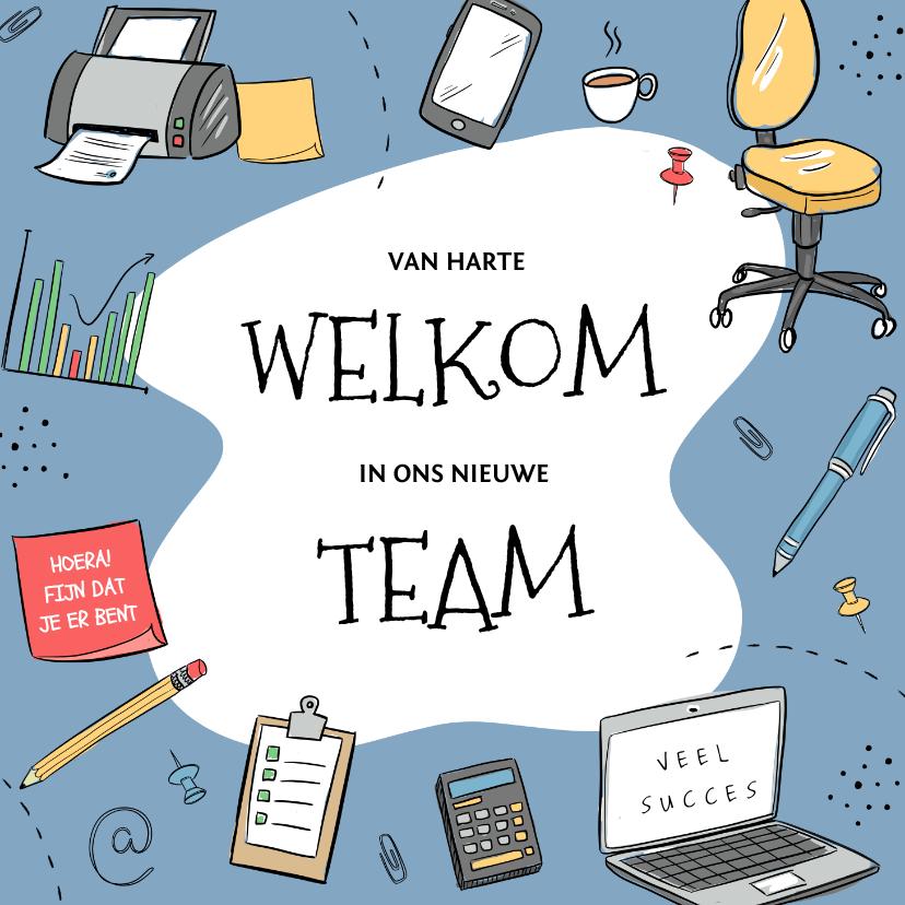 Felicitatiekaarten - Felicitatie nieuwe kantoorbaan met bureaustoel en laptop