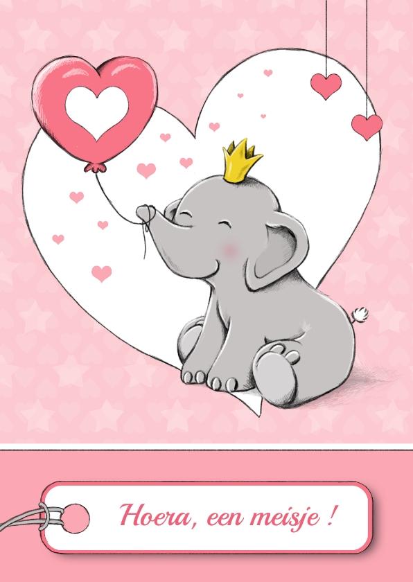 Felicitatiekaarten - Felicitatie olifantje - IH