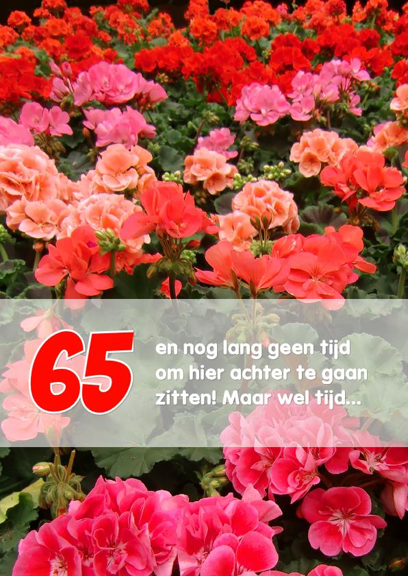 Felicitatiekaarten - Felicitatie pensioen geraniums