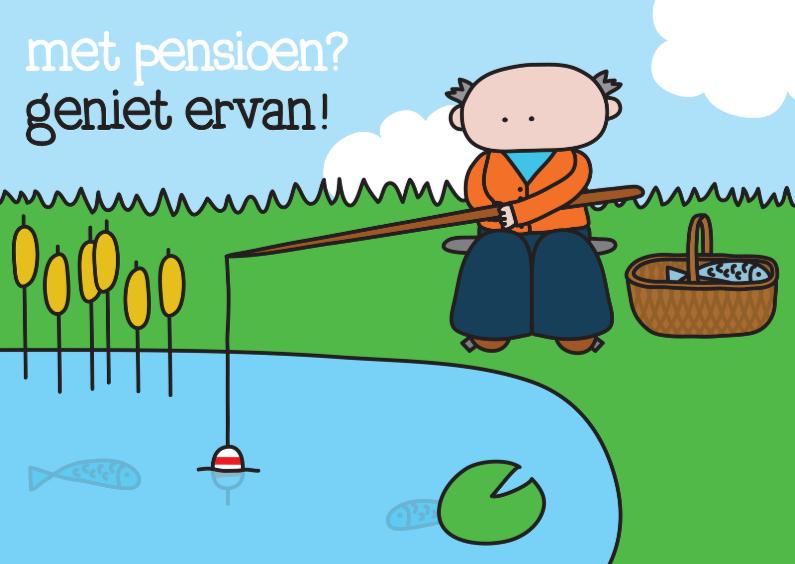 Felicitatiekaarten - Felicitatie Pensioen Vissen