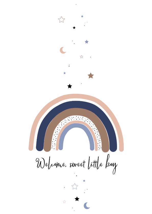 Felicitatiekaarten - Felicitatie - Regenboog met sterren en maan