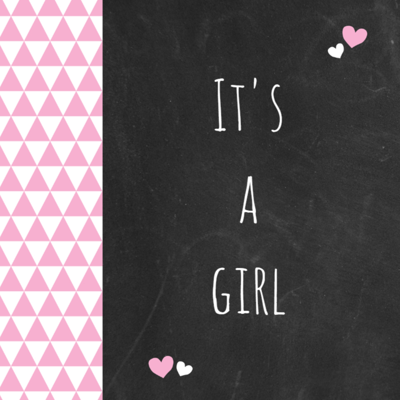 Felicitatiekaarten - Felicitatie  - roze driehoek