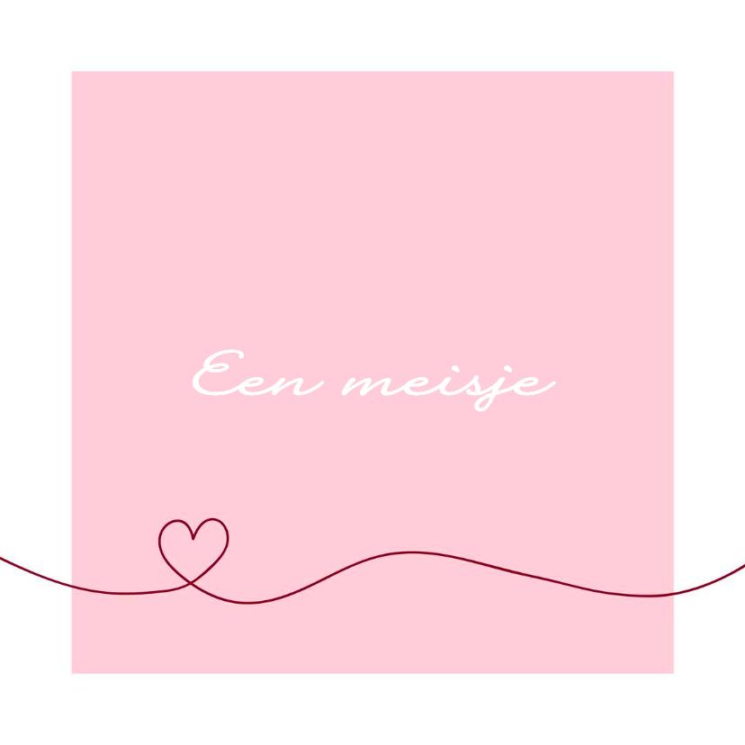 Felicitatiekaarten - Felicitatie - Simpel hart roze