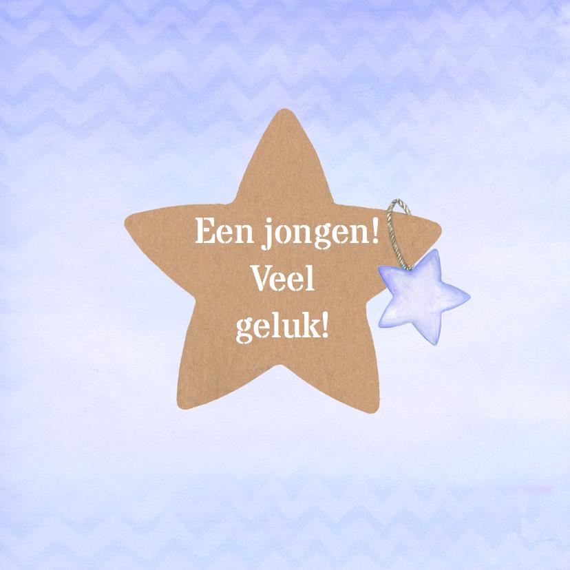 Felicitatiekaarten - Felicitatie ster jongen