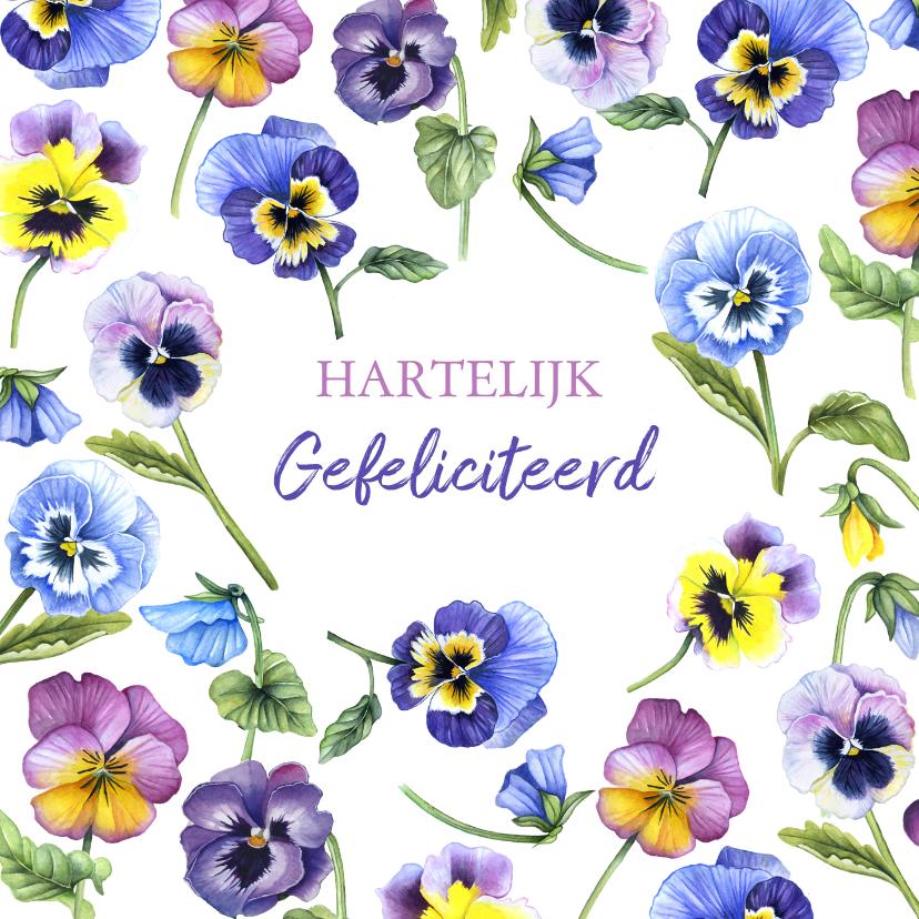 Felicitatiekaarten - Felicitatie viooltjes