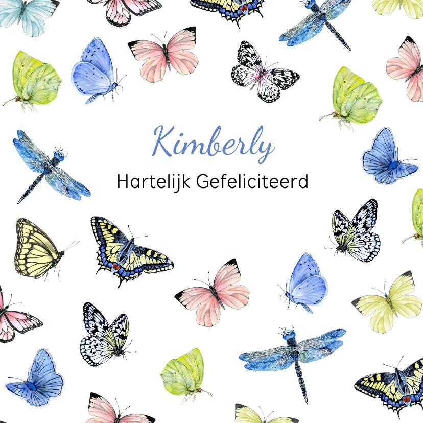 Felicitatiekaarten - Felicitatie vlinders