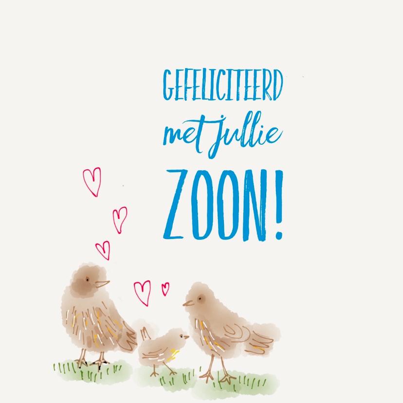 Felicitatiekaarten - Felicitatie Vogeltje