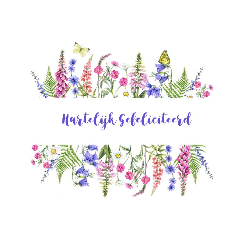 Felicitatiekaarten - Felicitatie wilde bloemen